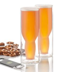 Two double-walled glasses