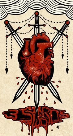3 of hearts tarot tattoo - Google Search