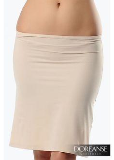 DA13002 - Seidiger Unterrock für eine glatte Silhouette #Slipskirt in verschiedenen Farben doreanse-shop.com