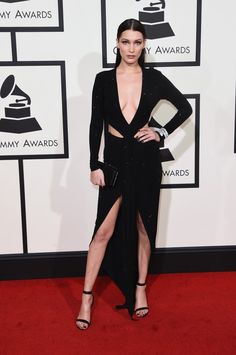 The Weeknd & Girlfriend Bella Hadid Hit Grammys 2016 Red Carpet!: Photo The Weeknd (whose real name is Abel Tesfaye) hits the red carpet at the 2016 Grammy Awards held at the Staples Center on Monday (February in Los Angeles. Bella Hadid Estilo, Style Bella Hadid, Fashion Tv, Star Fashion, Ellie Saab, Alexandre Vauthier, Grammy Awards 2016, Bella Hadid Pictures, Tom Ford