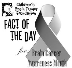 Fact # 1 - Gray is the color symbolizing brain tumor awareness. Spread the word and wear your gray with pride! #braincancerawareness #cbtf #gray #children