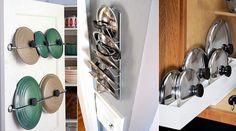 Como organizar tampa de panela: 6 ideias para poupar espaço