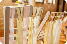 """Fun """"salvage chic"""" chairs by Elizabeth Anne Designs....I am going to do this to my kitchen chairs."""