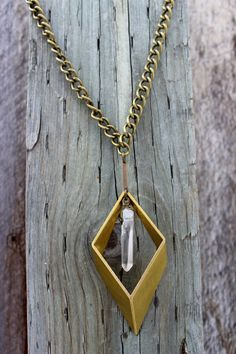 Rip This Joint//Rhombus Geometric Pendant//Clear by jennakoo