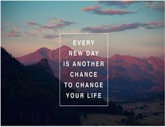 new day to change it all