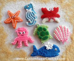 Sea Creature Cookies! | Flickr - Photo Sharing!