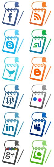 Notepad style social media icons : It's always been a challenge to compete and survive in this digital world and making a mark is a struggle. That is until now. Having the Note Pad styled social media images can drive immense traffic to your website and make your site's design look complete. #BeBoundless http://www.boundlessmeidasolutions.com
