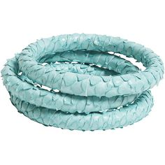 Ted Rossi Python Bangles (Set of 3) ❤ liked on Polyvore featuring jewelry, bracelets, accessories, jewels, blue, bracelets bangle, snakeskin jewelry, hinged bangle, ted rossi and blue bangle bracelet