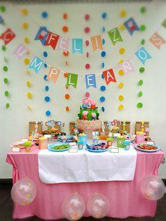Mamis aquí les dejo la decoración de Peppa Pig un nuevo diseño para ver mas mira: www.partybox.com.pe