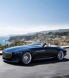 Mercedes has unveiled a new cabriolet all-electric concept as part of its 'Vision' design series at the Monterey Car Week. The 'Vision Mercedes-Maybach 6 Cabriolet' is Daim… Mercedes Benz Maybach, Mercedes 600, Maserati, Bugatti, Ferrari, Rolls Royce, Automobile, Mercedez Benz, Pebble Beach Concours