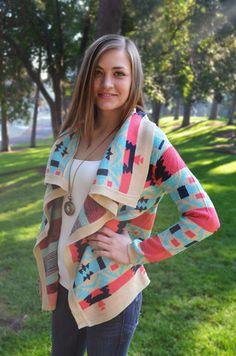Free Spirit Cardigan - $32 at www.threadlust.com. In mooie kleuren voor de lichte zomer (Z1). Cute Cover Ups, Elegant Woman, Free Spirit, Sweater Hoodie, Amazing Women, Autumn Fashion, Clothes For Women, Hoodies, My Style