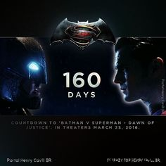 Our countdown to #BatmanvSuperman has begun! March 25, 2016 in the theaters! #BvS
