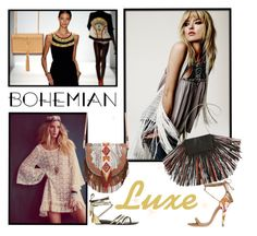Bohemian Luxe by patricia-dimmick on Polyvore featuring Etro, Giuseppe Zanotti, Barbara Bonner, Yves Saint Laurent and bohemianluxe