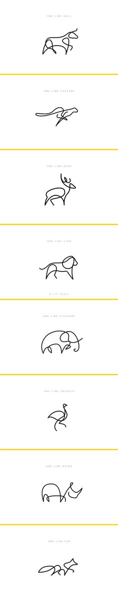 One Line Animals