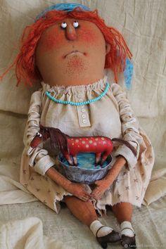 Купание красного коня – купить в интернет-магазине на Ярмарке Мастеров с доставкой - F7GO7RU Hobbit, Art Dolls, Harajuku, Teddy Bear, Toys, Children, Animals, Style, Fabric Dolls