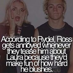Rydell's face and Ross is kind of like ok that's enough I get it
