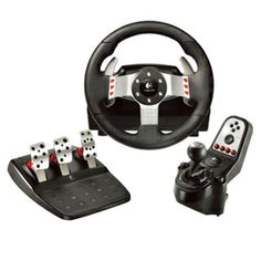 Enjoy a new level of racing simulations with dual-motor force feedback, six speed shifter.  Wrap your hands around the leather wheel.
