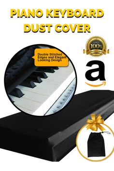 PERFECT FOR KEYBOARDS and fits most 76-88 key models with an adjustable elastic cord and stretchy material that helps for perfect fitting.  COMES WITH FREE POUCH that provides easy storage when keyboard and digital piano is in use.