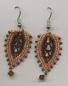 these earrings are from Beadwork Magazine, sometime in 2010 st. petersburg bead