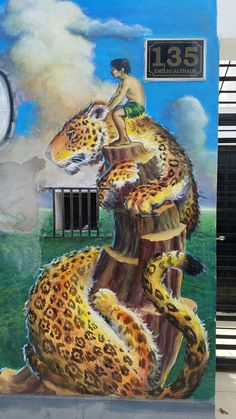 "Street Art & Graffiti- Lima, Peru. ""The Leopard - El Gato Grande"" Outside the Barranco District, there is a plethora of Street Art throughout Lima.  This comes from the San Isidro District.  Original photography from R. Stowe."