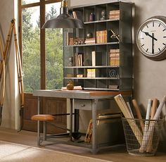 desk, industrial style
