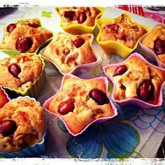 ホットケーキミックスを使い 金時豆とバナナを練りこみ シナモンシュガーをかけて 焼きました!! - 33件のもぐもぐ - 金時バナナマフィン by CHIBIKENSHImama