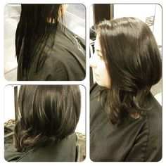 Amazing what a cut can do! Hair by Jenny #pureformsalon #yyc  #hairstyle #beauty #haircut