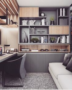 45 Perfect Home Office Space Design Ideas Will Inspire You – Modern Home Office Design Home Design, Small Space Interior Design, Office Space Design, Home Office Space, Office Interior Design, Home Office Decor, Office Interiors, Home Decor, Design Ideas