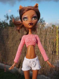 Ropa para muñecos - Ropa Monster High s106 - hecho a mano por mamimonster en DaWanda