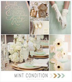 Mint + Gold Wedding Inspiration