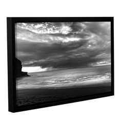 ArtWall Chris Tuff's 'Boat On The Horizon' Gallery Wrapped Floater-framed Canvas