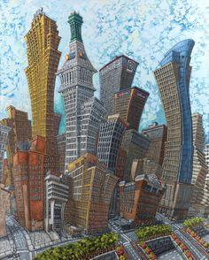 Downtown Cincinnati by Mike Maydak