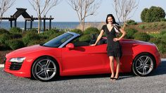2012 Audi R8 Spyder with Elizabeth Kreft