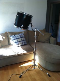 Repurposed Tom Tom Drum Floor Lamp This would be even better with a trombone base!