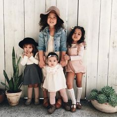 {sisters are different flowers from the same garden} The cutest little girl outfits!