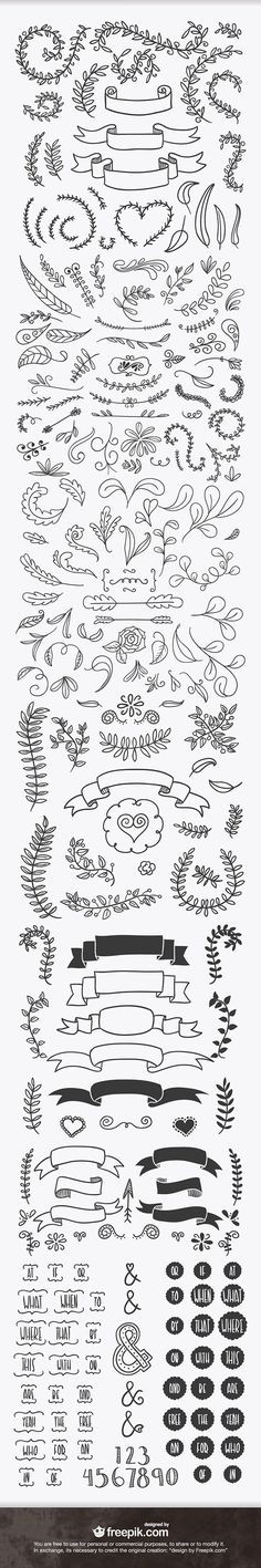 ever handsketched free vector elements Doodles for bullet journal.Doodles for bullet journal. How To Draw Ribbon, Bibel Journal, Chalkboard Art, Bullet Journal Inspiration, Doodle Inspiration, Doodle Ideas, Doodle Art, Creative Inspiration, Journal Ideas