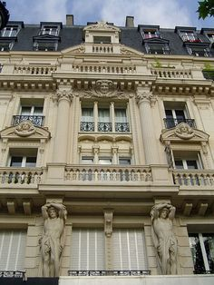 Lots of detail on this beautiful Paris facade by fredpanassac, via Flickr