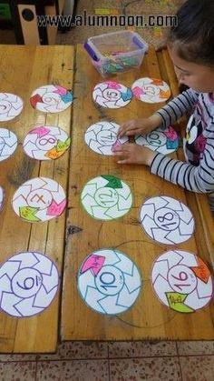 Lock & Key Addition Puzzles for Kids - fun hands-on STEM math idea! Math Classroom, Kindergarten Math, Teaching Math, Math Math, Math Games, Preschool Activities, Math Addition, Repeated Addition, Math Work