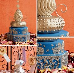 Beautiful Morocco Wedding Decoration Style - Guide Wiring With Repair Book Moroccan Party, Moroccan Wedding, Indian Wedding Cakes, Amazing Wedding Cakes, Indian Weddings, Chic Wedding, Wedding Styles, Wedding Shit, Blue Wedding