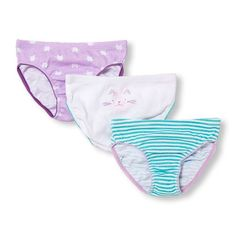Baby Girls Toddler Kitty Print Briefs 3-Pack - Purple - The Children's Place