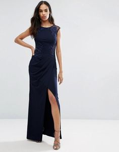 b0d87abbb2284e Lipsy Bodycon Dress With Placement Detail in Blue