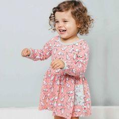 Mia Blush Bun Bun Dress For Cute Little-one