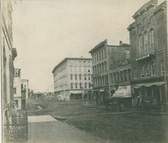 1870 Pearl St looking west towards the covered bridge.