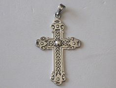 Beautiful Sterling Silver Filigree Cross Pendant by COBAYLEY, $30.00