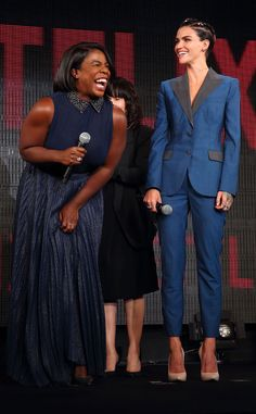 Uzo Aduba & Ruby Rose from The Big Picture: Today's Hot Pics  LOL! The OITNBstars attend the Netflix contents presentation in Tokyo.