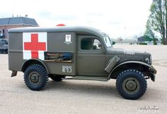 Militair Weekend Hembrug, Zaandam. Zaterdag 9 mei 2015. The Dodge WC54 3⁄4 Ton, supply catalog designation G502, was a WC series 4×4 light truck developed during World War II. It served as the main ambulance used by the US army from 1942 to 1945.