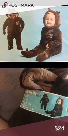 NEW baby teddy bear warm coverall suit brown It's just cute as it is , cozy and soft. New-great as a gift! Different sizes and colors are available . lupilu One Pieces Footies