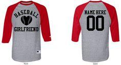 Cute Baseball Girlfriend Unisex Champion 3/4 Sleeve Raglan Baseball T-Shirt at Customized Girl.com