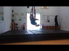 9 minute aerial yoga - YouTube
