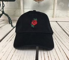 Hey, I found this really awesome Etsy listing at https://www.etsy.com/listing/260786963/baseball-cap-flower-rose-embroidery